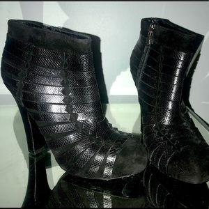 Bottega Veneta lizard skin suede boot 7
